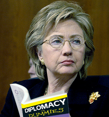 The Hildabeast studying for Secretary of State?